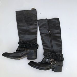 Bronx black leather boots for women size 37